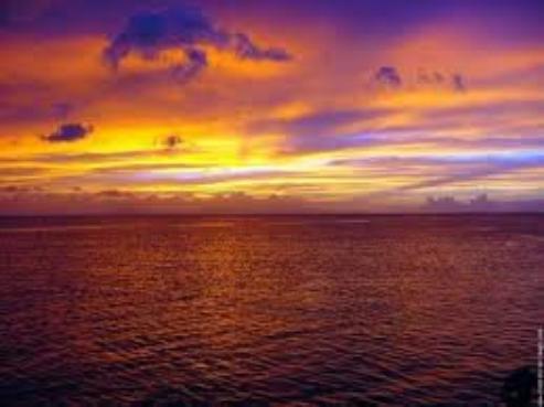 Rien de telle qu'un magnifique coucher de soleil pour se sentir en vacances...