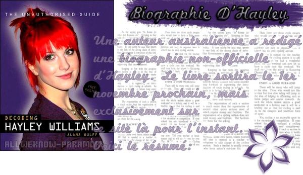22/10/2011:Biographie Hayley