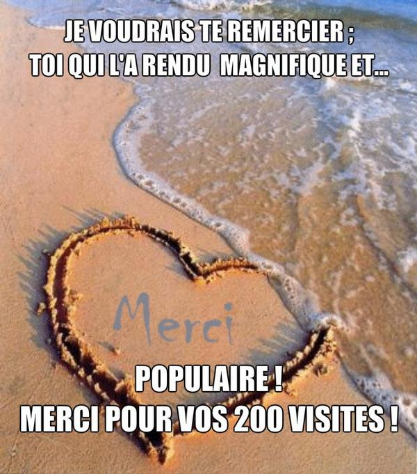 ♥ 200 VISITES, MERCI BEAUCOUP ! ! ! ♥