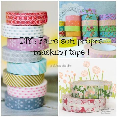 DIY : Faire du masking tape sois même et personnalisable ! ♥