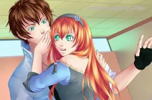 Sucrette : Cheveux long,roux,yeux vert. (Que les illustrations avec une sucrette.)