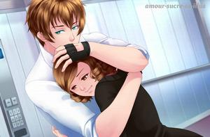 Sucrette : Cheveux bouclée,brun,yeux marron. (Que les illustrations avec une sucrette.)