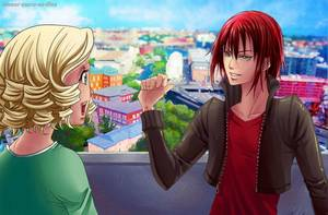 Sucrette : Cheveux bouclée,blond,yeux vert. (Que les illustrations avec une sucrette.)