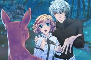 Sucrette : Cheveux bouclée,blond,yeux bleu. (Que les illustrations avec une sucrette.)