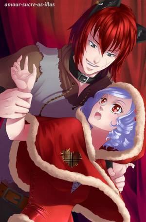 Sucrette : Cheveux bouclée,blanc,yeux rouge. (Que les illustrations avec une sucrette.)