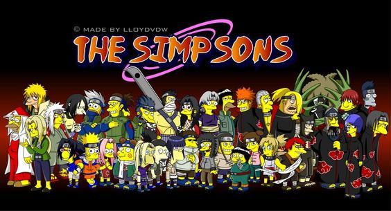 Les Simpson En Mode De Naruto