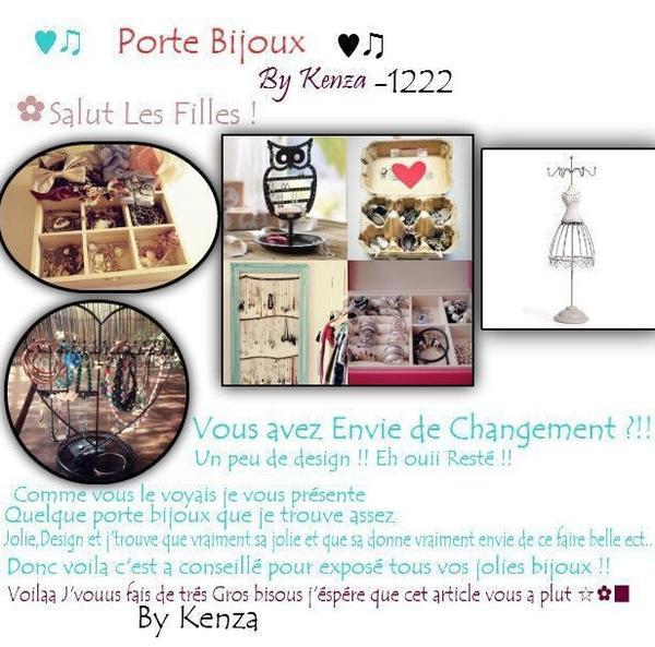 Porte Bijoux .. (Article en Colaboration avec ma partenaire D-I-Y)