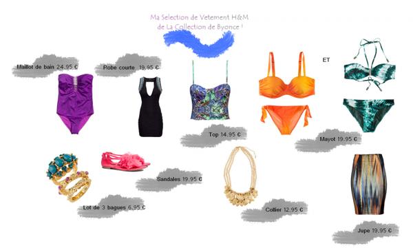 Ma Sélection de Vêtement Chez H&m de La Collection de Byonce !