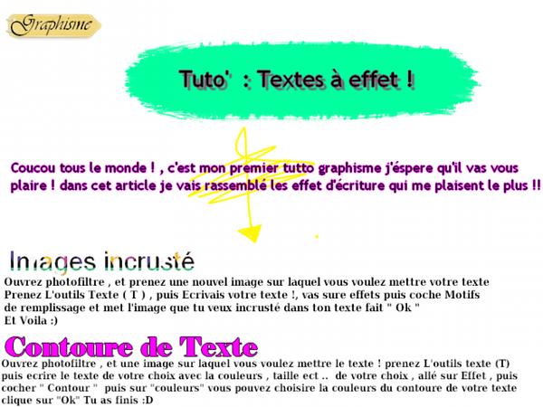 Tuto' Graphisme : Des Textes à Effets !