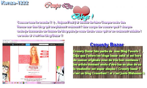 Coups de Coeur Blogs - Bazar  - du mois de Juillet