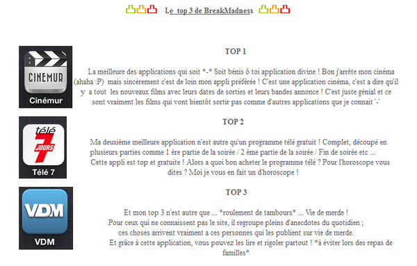 Article en collaboration avec BreakMadness - Nos applis favorite !