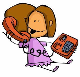 * Au téléphone *