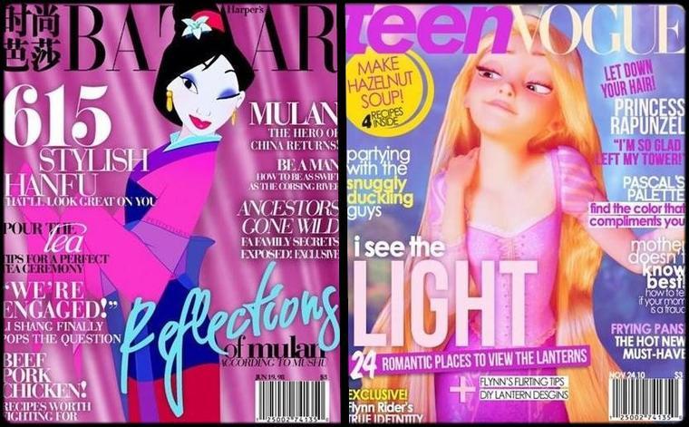 Images : Les héroïnes Disney s'offrent les couvertures des plus célèbres magazines féminins !