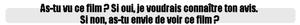 ➽ LA DERNIERE CHANSON | ★★★★★ |