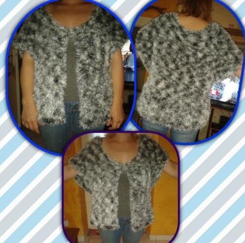 Voilà, mon tout premier vrai travail de tricot terminé