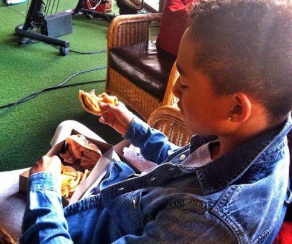 Jaden eats
