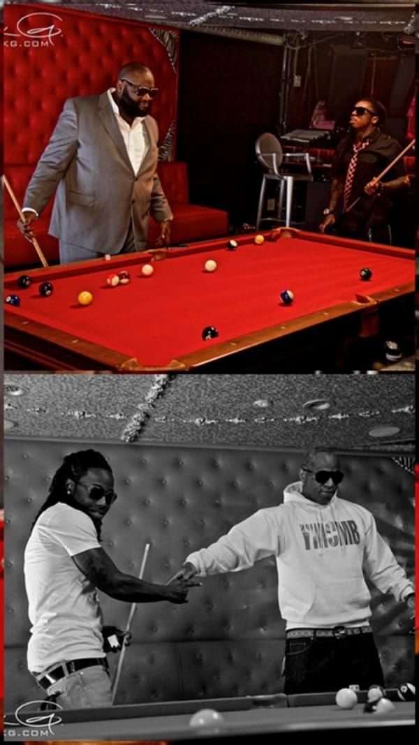 ๑ Pictures: On set of Rick Ross & Lil' Wayne ~ 9 Piece ~ # Photoshoot  ;)