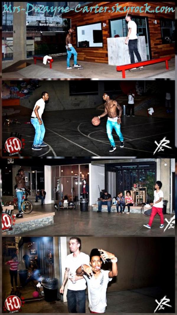 ๑ Info' & Pictures: Lil Wayne visite Drama's Fantasy Factory à Los Angeles.