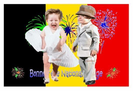 BONNE  FÊTE  NATIONALE  A  MES  AMIES, AMIS  BELGES