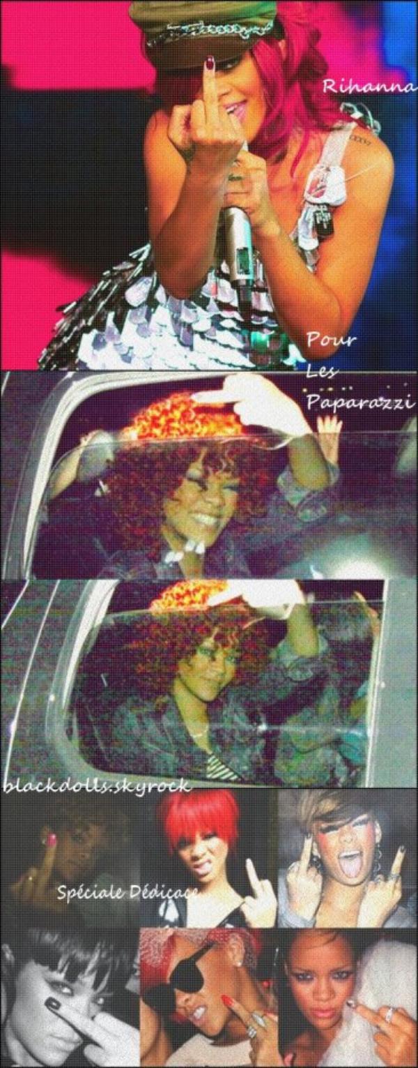Rihanna et Ses doigts d'honneur