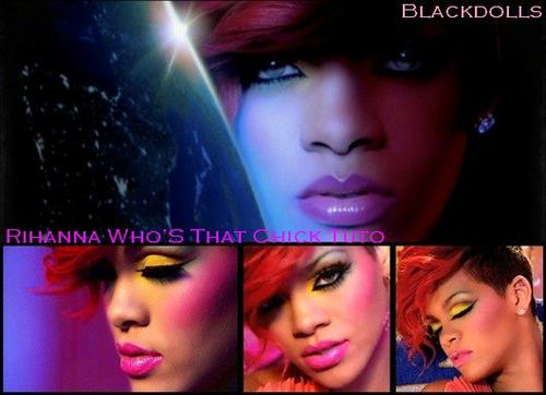 "Make Up- Rihanna 's ""Who's that chick"" Tutorial"