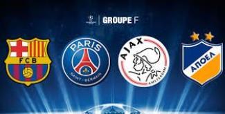 Le groupe du PSG EN Ligue des Champions