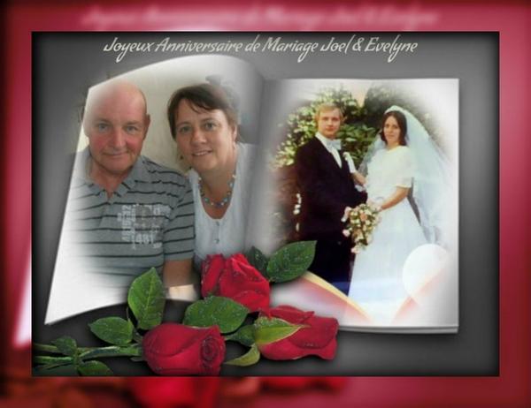 JOYEUX  ANNIVERSAIRE  DE  MARIAGE  JOEL  ET  EVELYNE   (l)   TOUT  MES  VOEUX  DE  BONHEUR
