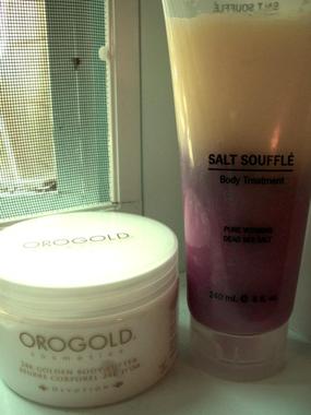SOINS ; Crème Orogold & Sel soufflé