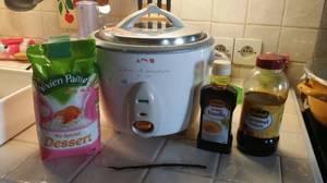 Kiumy: riz au lait a la vanille au rice cooker