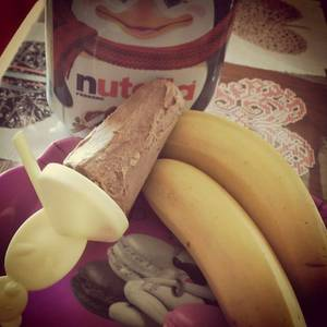 Glace banane/nutella sans sorbetière