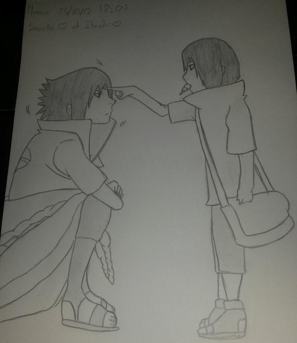 Dessin: Sasuke et Itachi enfant!