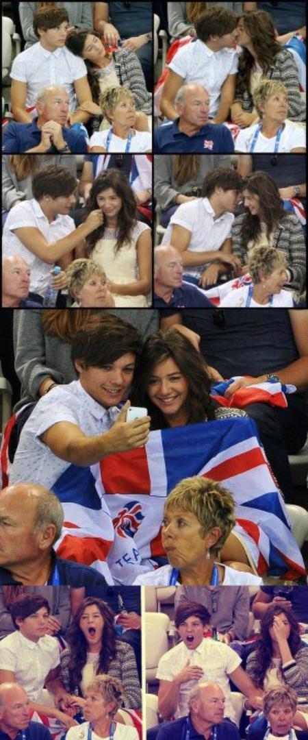 9/08/2012 - Eleanor et Louis assistaient aux J.O.