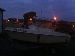 Sortie avec le bateau de mon fils