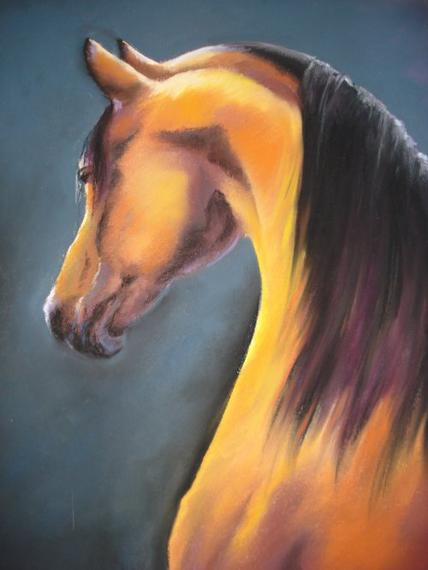 cheval au pastel