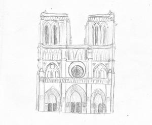 travail n°5, architecture, dessin d'observation