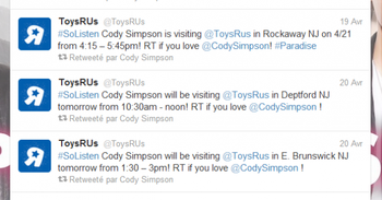 Acceuil Twitter de Cody , Explications