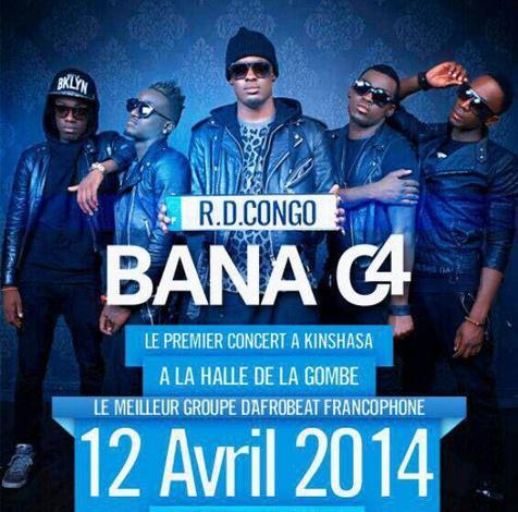 Bana C4 en concert de confirmation à Kinshasa