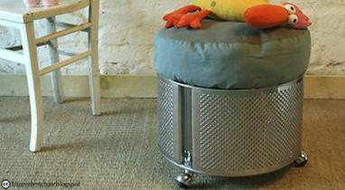 idée récup : du mobilier avec des tambours de machine à laver