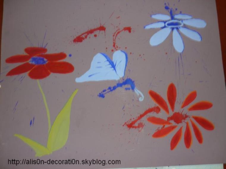 Travail n°4 - Panneau décoratif a partir d'une tâche