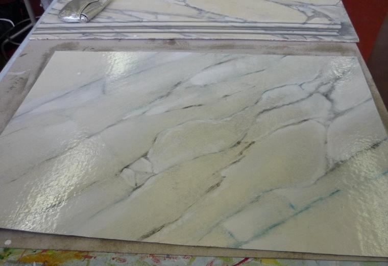 Travail n°7 - faux marbre