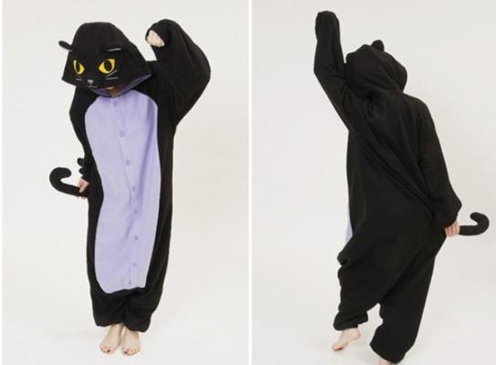 Halloween-Neko Kigurumi Midnight Cat