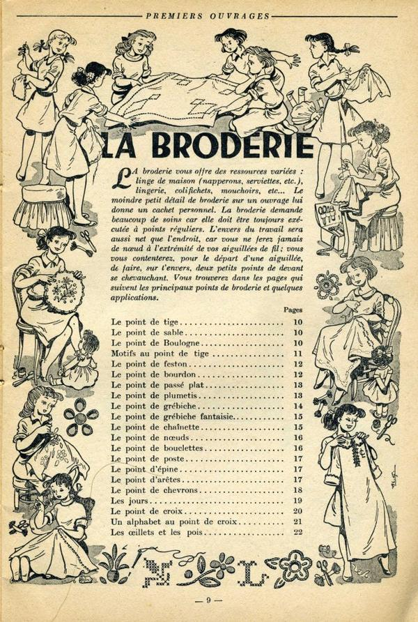 Premiers Ouvrages - La Broderie