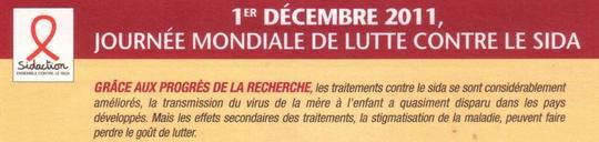 Line RENAUD - Journée Mondiale de lutte contre le le sida