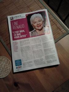 Line Renaud - itw dans le Télémoustique de cette semaine (MAJ 29-01-13)