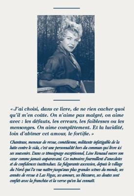 """Line Renaud - sortie de son autobiographie """"Et mes secrets aussi"""" le 20 mai 2013"""