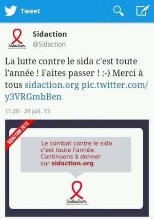 Line Renaud - Soutenez Sidaction !