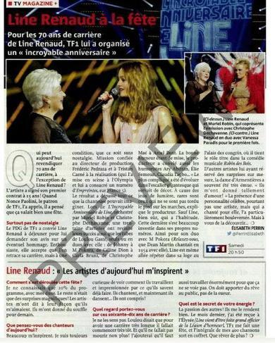 """Line Renaud - """"L'incroyable anniversaire de Line"""": la presse en parle"""