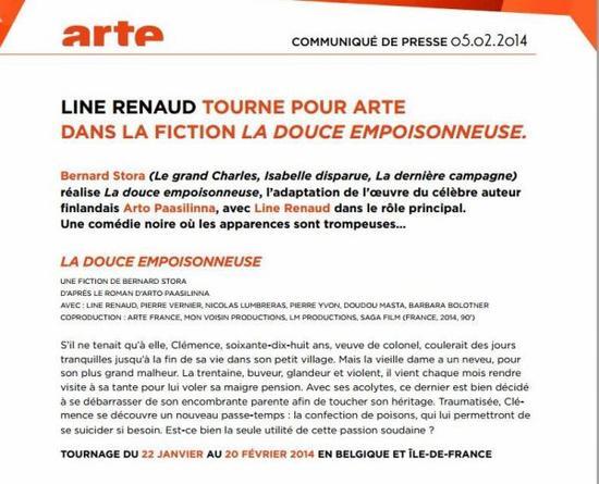 Line Renaud - Le pitch de La Douce Empoisonneuse
