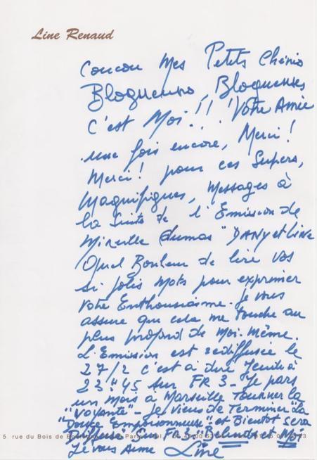 Line Renaud - Line vous a laissé un message...