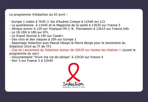 Line Renaud - Lancement du Sidaction 2014 ce soir